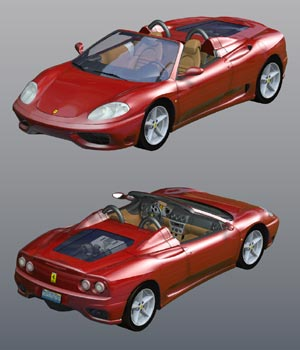 Ferrari 360 Spider 2000 (for Poser) 3D Models Digimation_ModelBank