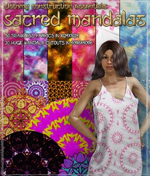 Clothing Construction Essentials: Sacred Mandalas 2D Graphics Merchant Resources ShaaraMuse3D