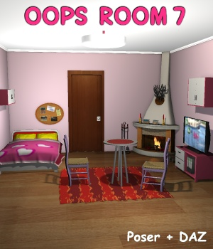 Oops Room7 - Extended License 3D Models Gaming greenpots