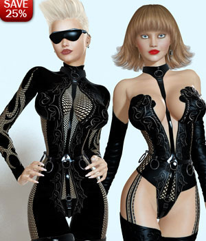 B#1 1 Click MadamX Super Skinz Bodygloves Kit-1 3D Figure Assets lululee