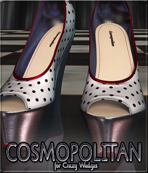 COSMOPOLITAN - Crazy Wedges 3D Figure Essentials Anagord