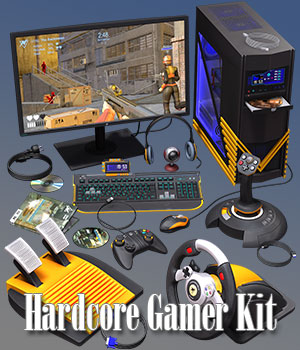 Hardcore Gamer Kit 3D Models ile-avalon