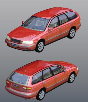 Volvo V40 2000 (for Poser) 3D Models Digimation_ModelBank