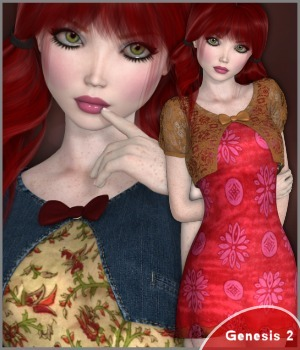 7th Ave: Dottie Dress 3D Figure Essentials 3-DArena