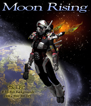 Moon Rising 2D Graphics ellearden