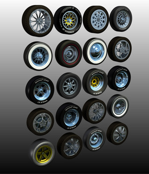 N7 WHEELS BUNDLE 3D Models Nationale7