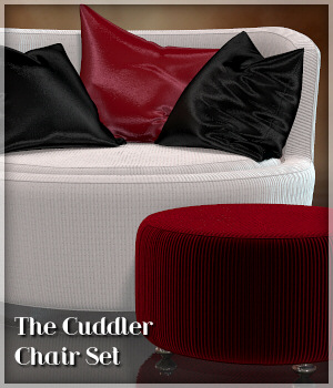 The Cuddler Chair Set 3D Models Lully