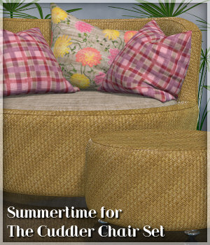 Summertime for The Cuddler Chair Set 3D Figure Essentials Lully