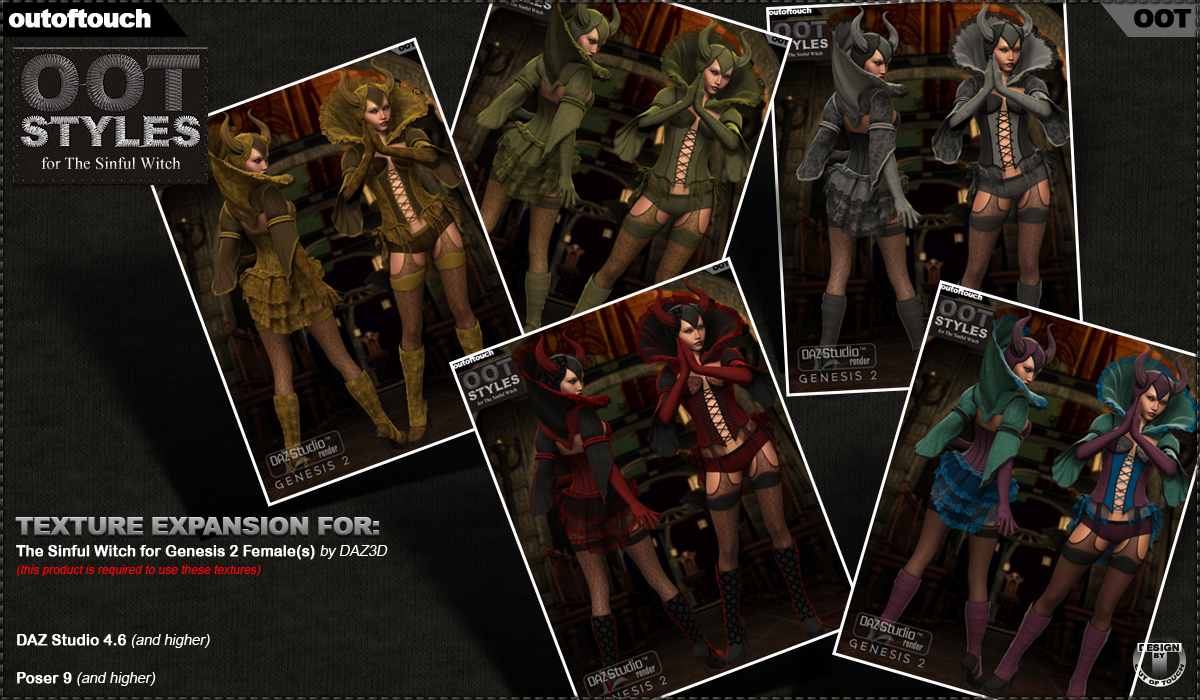 OOT Styles for The Sinful Witch for Genesis 2 Female(s)