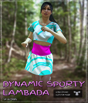 Dynamic Sporty Lambada Outfit 3D Figure Essentials Grappo2000