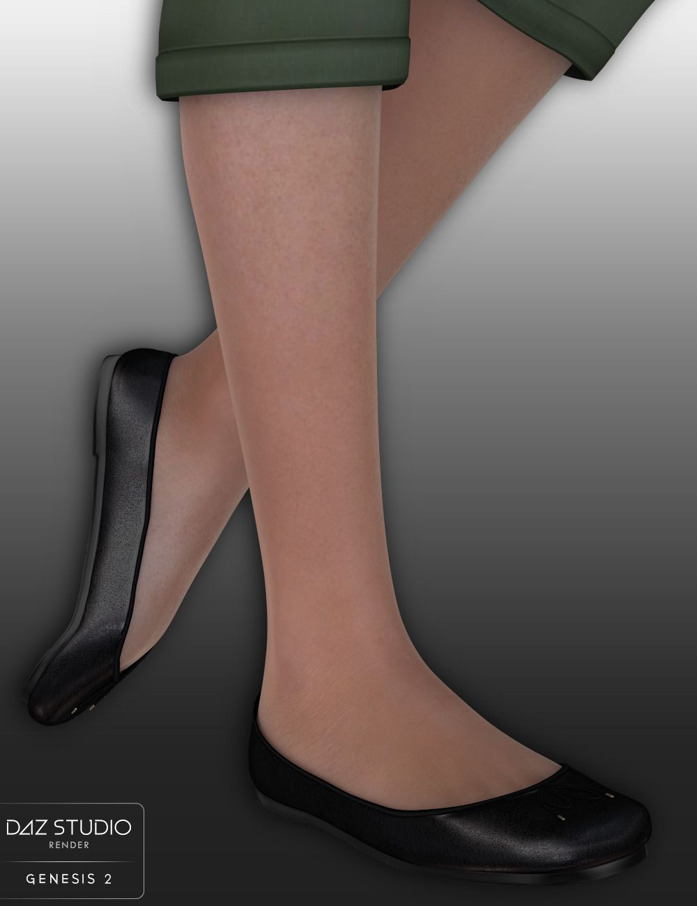 Classic Ballet Flats for Genesis 2 Females