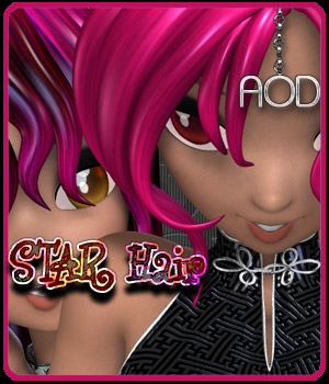 COLORation: Universal STAR Hair Products 3D Figure Assets ArtOfDreams