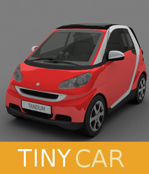Tiny Car 3D Models TruForm