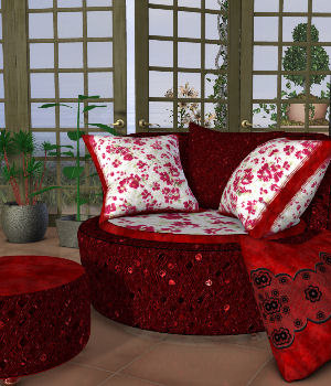 DA-Little Romance for The Cuddler Chair Set by Lully 3D Figure Assets DarkAngelGrafics