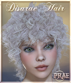 Prae-Disarae Hair 3D Figure Assets prae