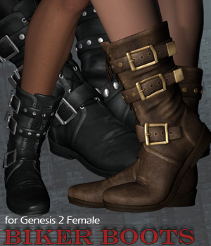 G2 Biker Boots 3D Figure Essentials 3D Models RPublishing