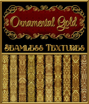 Ornamental Golds Seamless Texture Pack 2D Graphics Merchant Resources fractalartist01