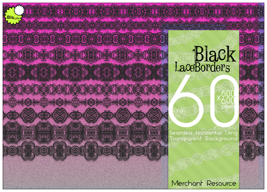 Biscuits Black Lace Borders Merchant Resource