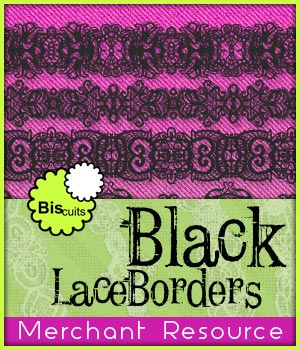 Biscuits Black Lace Borders Merchant Resource 2D Merchant Resources Biscuits
