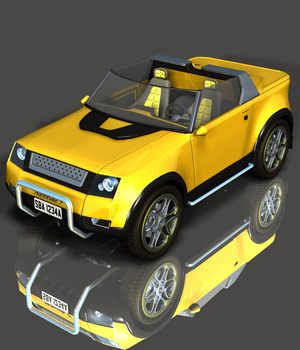 N7 CONCEPT CAR  for POSER  3D Models Ourias3D