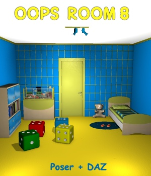 Oops Room8 - Extended License 3D Models Gaming greenpots