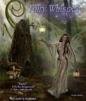 Fairy Whispers 2D Graphics Kachinadoll