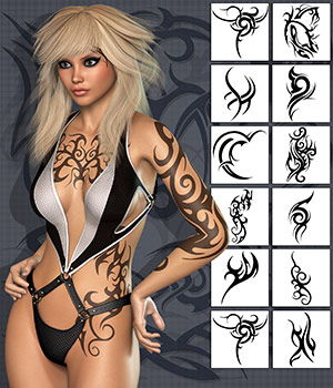 PB - Tribal Tattoo 2D Atenais