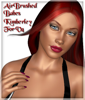 Airbrushed Babe Kimberley for Victoria 4 3D Figure Assets Lully
