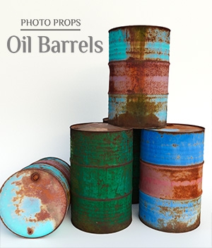 Photo Props: Oil Barrels 3D Models ShaaraMuse3D