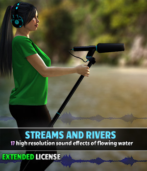 Streams and Rivers - Extended License Gaming Merchant Resources ShaaraMuse3D