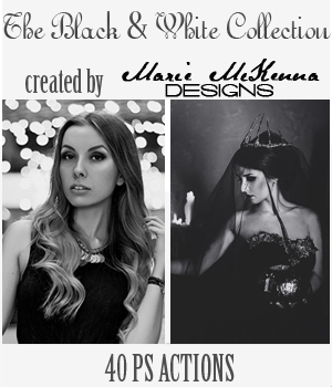 PS Actions - The Black and White Collection 2D Graphics MarieMcKennaDesigns