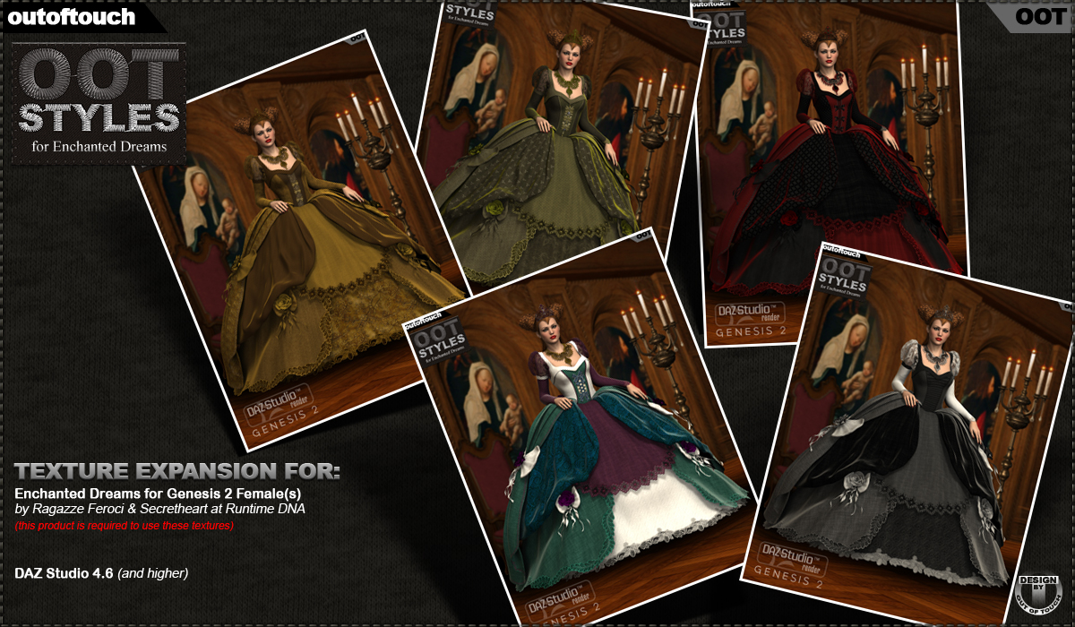 ROYAL STYLES for Enchanted Dreams for Genesis 2 Female(s)