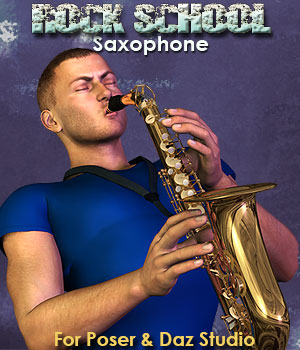 Rock School Saxophone 3D Models Simon-3D