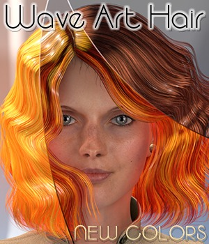 Wave Art Hair - NEW COLORS 3D Figure Assets 3Dream