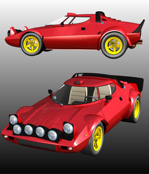 LANCIA STRATOS HF STRADALE 3D Models Software Nationale7
