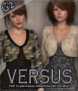 VERSUS - Classy Casual Dress & Bolero for Gen2 3D Figure Essentials Gaming Anagord
