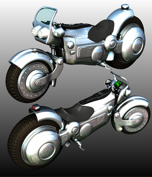 PATROL MOTORCYCLE (for Poser) 3D Models Software Nationale7