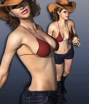S1M Scarlet: Modern Outlaws 1 3D Figure Assets sixus1