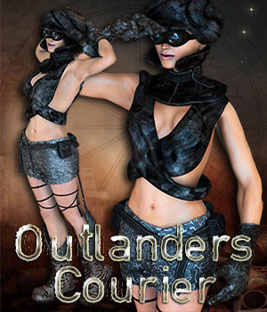 S1M Scarlet: Outlanders - The Courier 3D Figure Assets sixus1