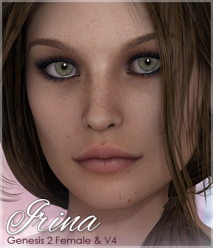 Sabby-Irina for V4 and Genesis 2 3D Figure Assets Sabby