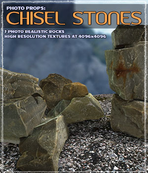 Photo Props: Chisel Stones 3D Models Grappo2000