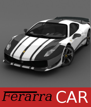 Ferarra Car 3D Models TruForm