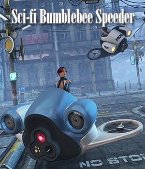 Sci-fi Bumblebee Speeder by ile-avalon