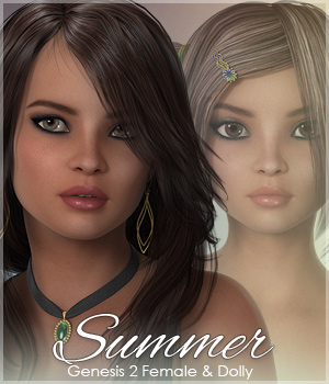 Sabby-Summer for Dolly & Genesis 2 3D Figure Assets Sabby