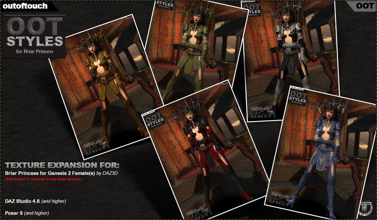 OOT Styles for Briar Princess for Genesis 2 Female(s)