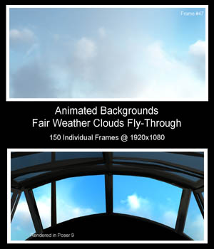 Fair Weather Clouds Fly-Through 2D Graphics martyr45