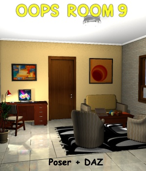 Oops Room9 - Extended License Gaming 3D Models greenpots