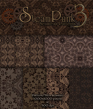 Merchant Resource - Steampunk Patterns 3 2D Graphics Merchant Resources antje