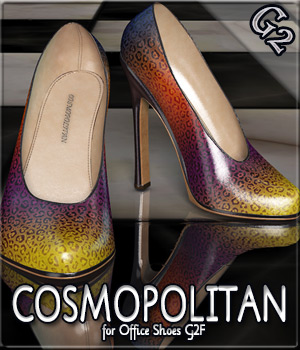 COSMOPOLITAN - Office Shoes G2F 3D Figure Essentials Anagord