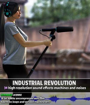 Industrial Revolution - Extended License Extended Licenses Merchant Resources Music  : Soundtracks : FX ShaaraMuse3D